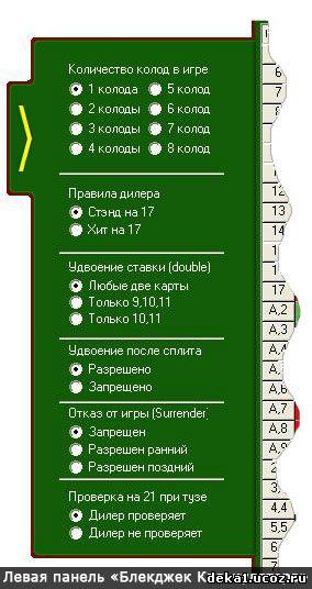 Левая-панель-Блекджек-Калькулятора
